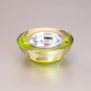 Glasleuchter, grün