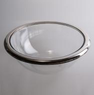 Kaviar-Schüssel mit Silberrand